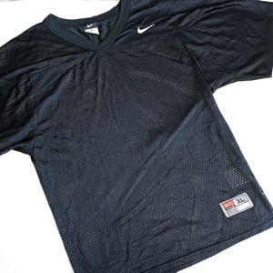 NIKE   Black mesh short sleeve top